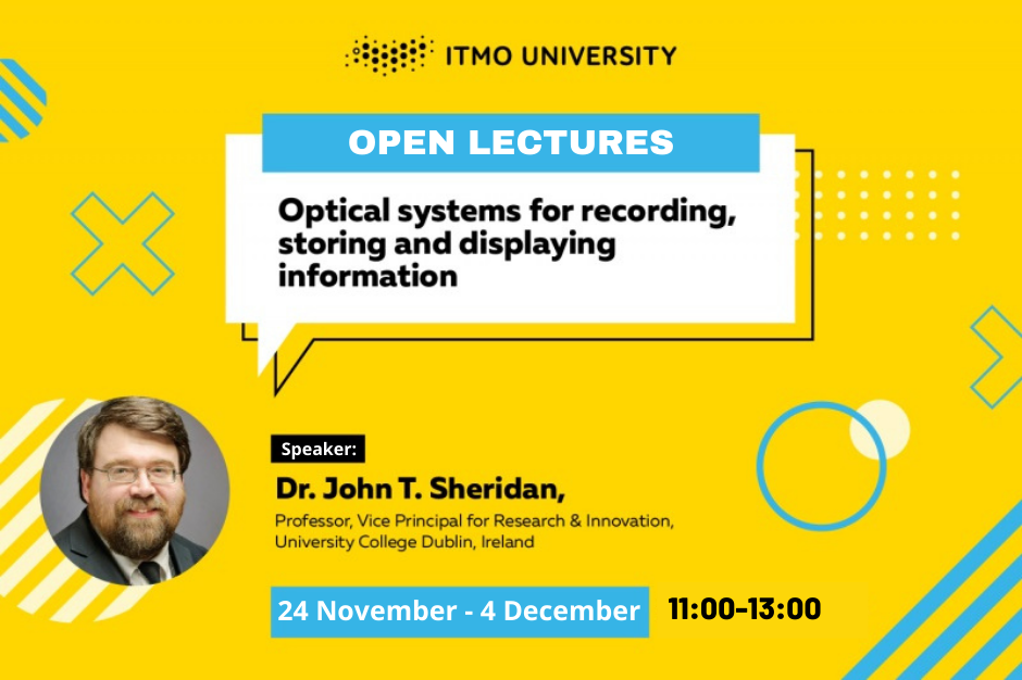 Series of open lectures by Prof. John T. Sheridan