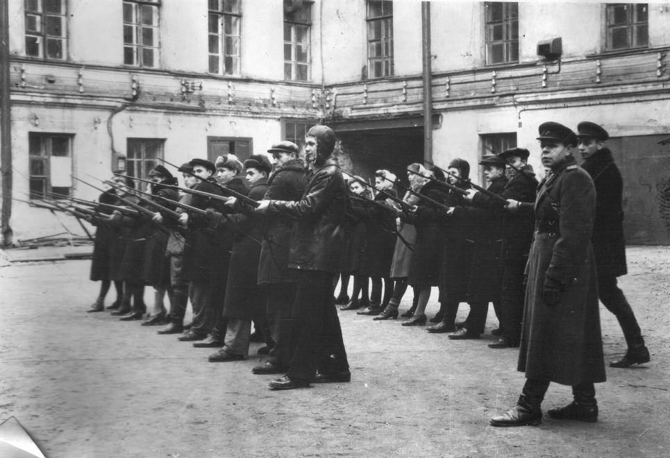 Строевая подготовка. 1946 год.